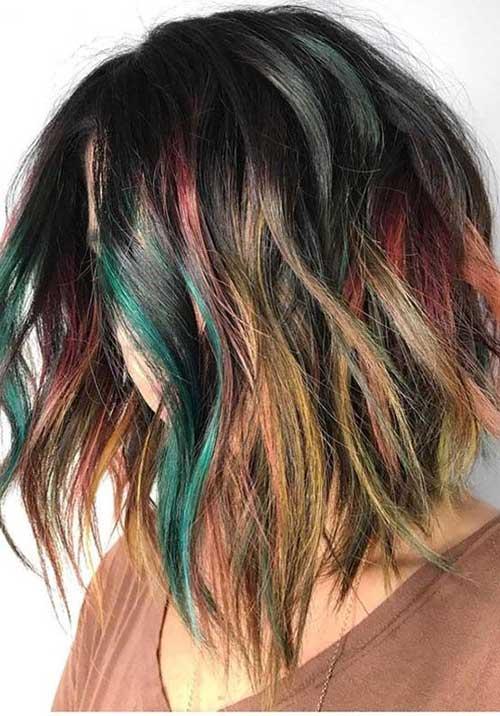 Multi Hair Color Ideas for Short Hair 2019