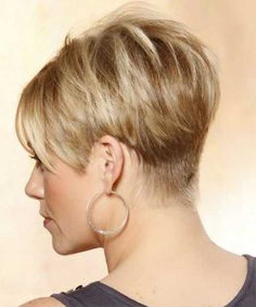 10. Very Short Wedge Hairstyle Back View