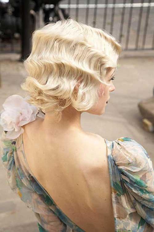 Retro Wedding Hairstyles for Short Hair