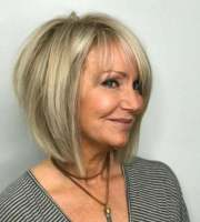 bob haircuts older women chic