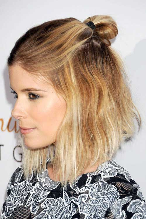 Kate Mara Ombre Hairstyle Color On Short Hair