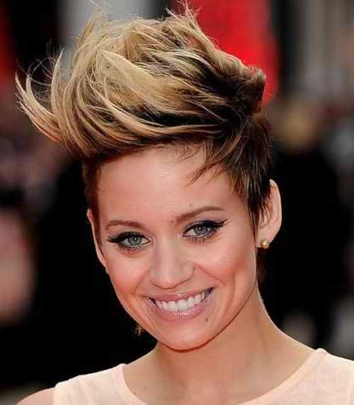 Faux Hawk with Blazing Ombre Hairstyle