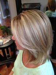short light brown hair with blonde