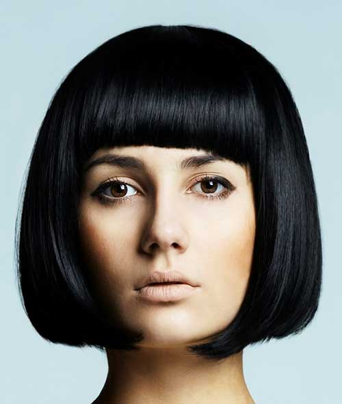 30 Chin Length Blunt Bob With Bangs Hairstyles No Hairstyles