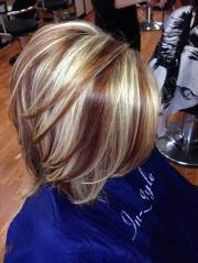 short blonde and brown hair