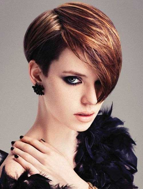 Hair Highlights for Angled Short Hairstyles