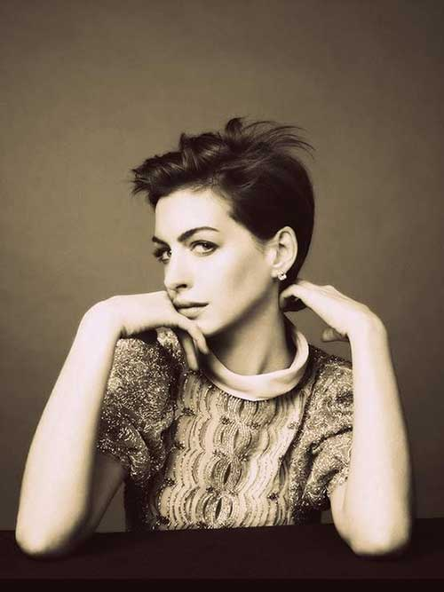 Anne Hathaway Pixie Pictures