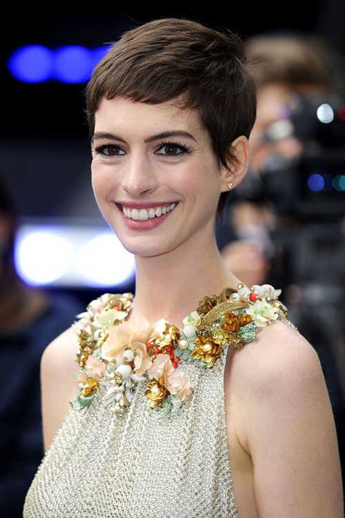Anne Hathaway Short Hair Pixie Pictures