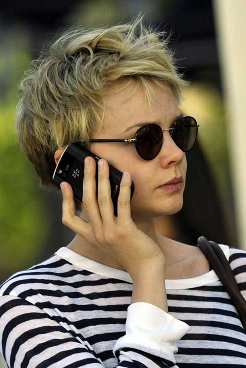 Carey Mulligan Messy Pixie Cut
