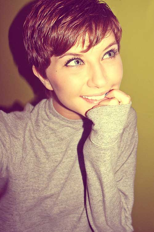 1000 Ideas About Thick Pixie Cut On Pinterest Kris