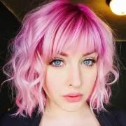 lovely 20 short pink hair