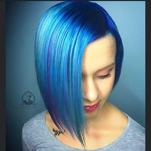 Unique And Stylish Short Blue Hair Ideas Short Hair Color