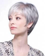 2017's short grey granny hair trend