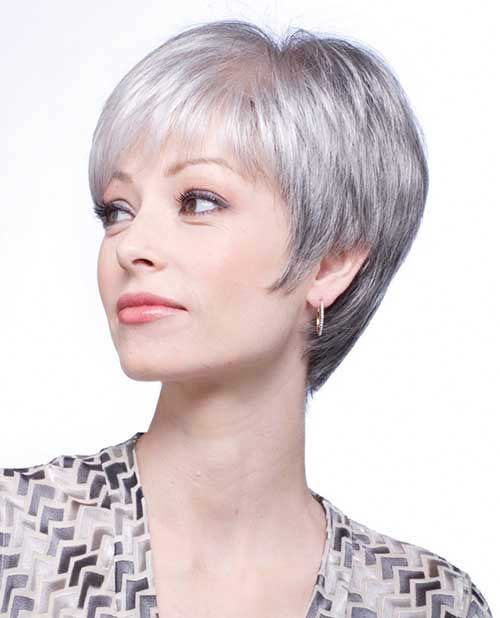 30 Short Haircuts For Round Faces And Thin Gray Hair