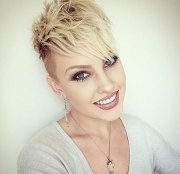 short edgy hairstyles curly