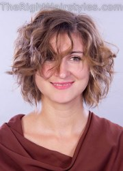short messy curly hairstyles 2017