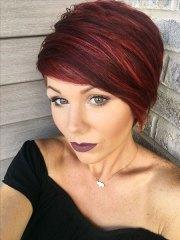 striking short red hairstyles