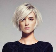 short hairstyles with side swept