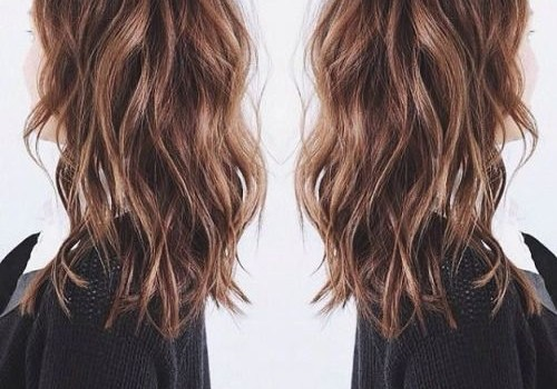 Stylish Layered Wavy Hair - stylish layered wavy hair