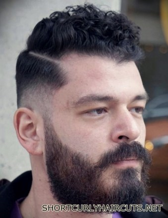 Best Short Curly Haircuts for Men - short curly haircuts men 20
