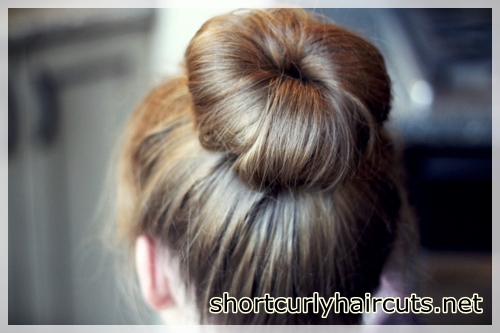Dispersed bun model for fine hair