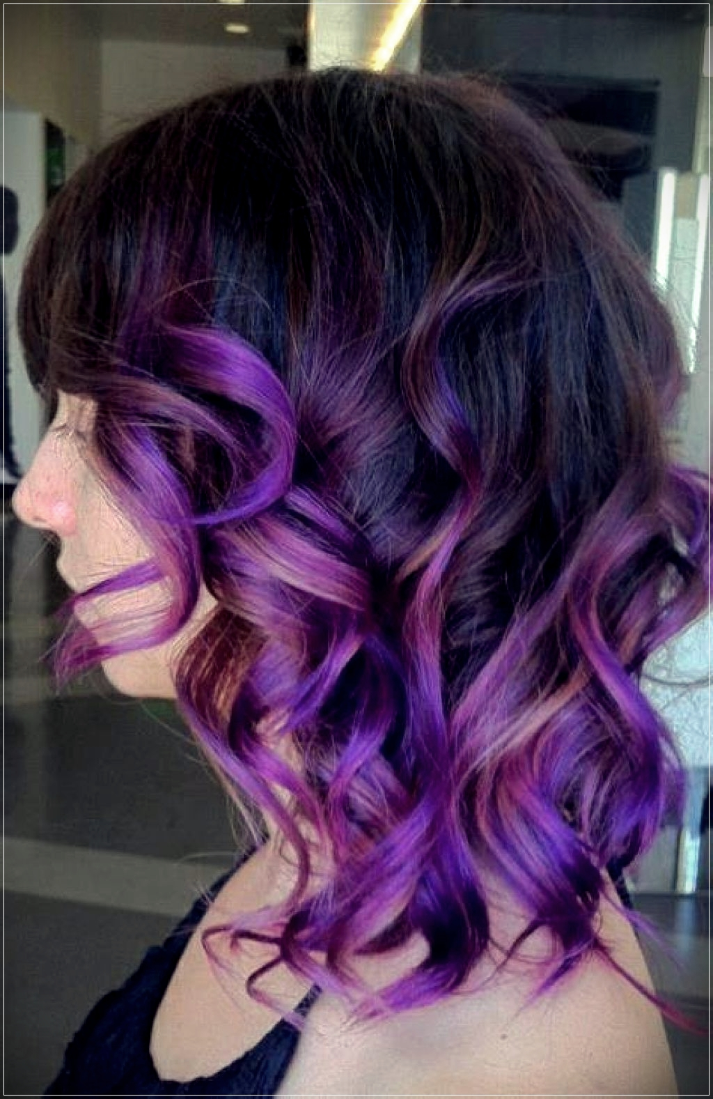 Different shades of purple
