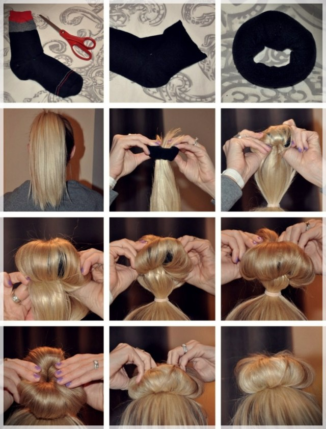 DIY: Fast and easy hairstyles - styling ideas with instructions - DIY fast and easy hairstyles 16