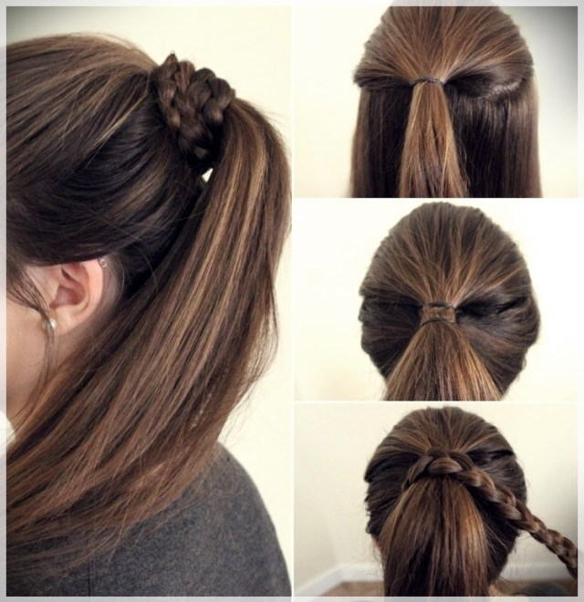 DIY: Fast and easy hairstyles - styling ideas with instructions - DIY fast and easy hairstyles 18