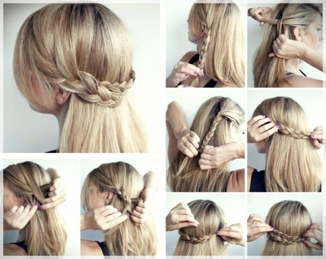 DIY: Fast and easy hairstyles - styling ideas with instructions - DIY fast and easy hairstyles 2