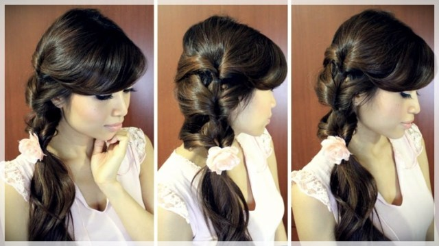 DIY: Fast and easy hairstyles - styling ideas with instructions - DIY fast and easy hairstyles 23