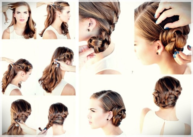 DIY: Fast and easy hairstyles - styling ideas with instructions - DIY fast and easy hairstyles 4