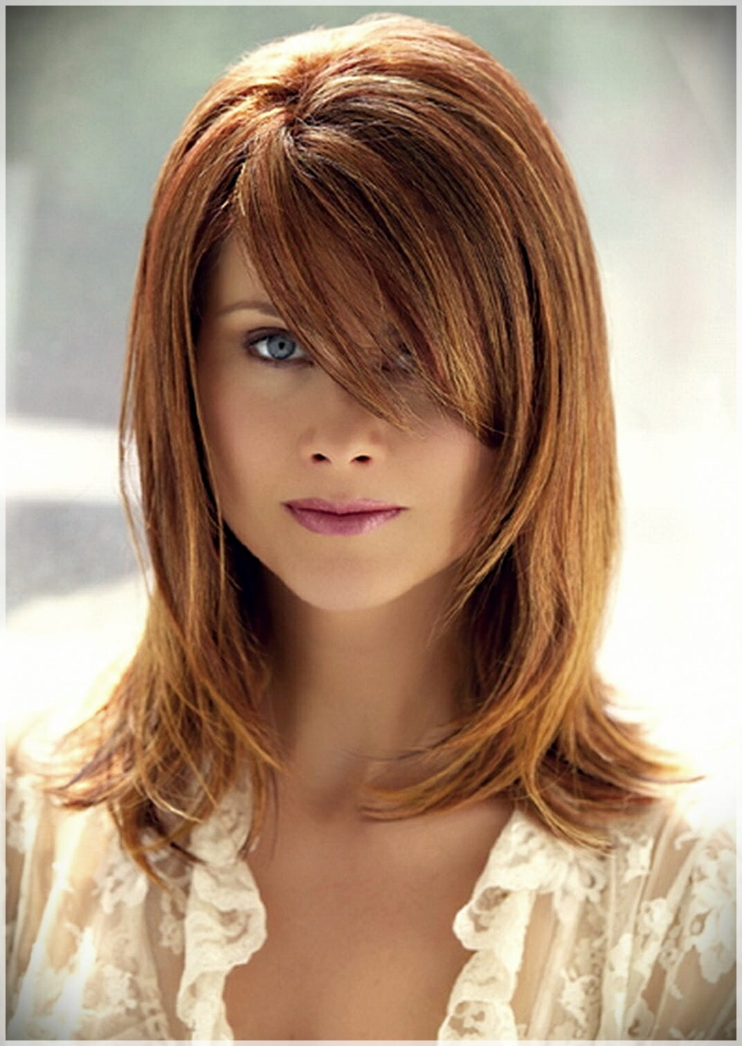 layered haircut with bangs 6 - Why getting bangs will never go out of fashion?