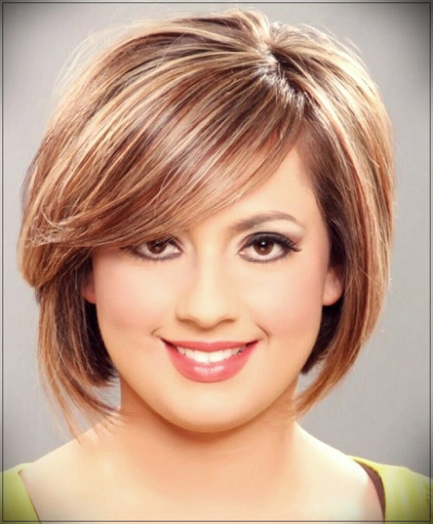 short hairstyles for round faces 4 - Correct hairstyles for your face type