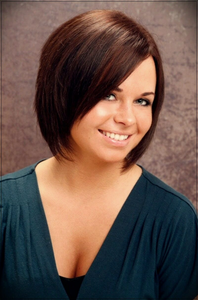 short hairstyles for round faces 7 - Correct hairstyles for your face type