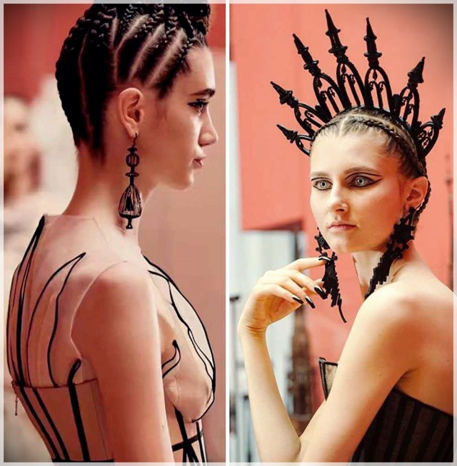 Look hair with mini braids