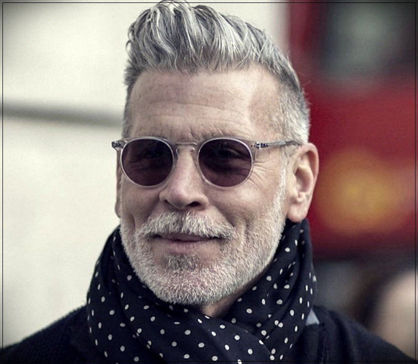 Gray hair man: trends, colors and shades of 2019 - gray hair man 8