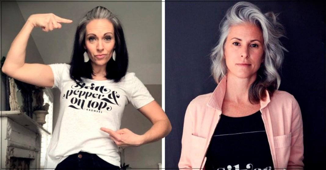 Natural gray hair