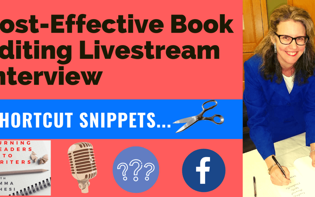 Cost-Effective Book Editing Livestream – Get Some Tips!