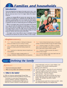 Sociology in Focus: Families and Households