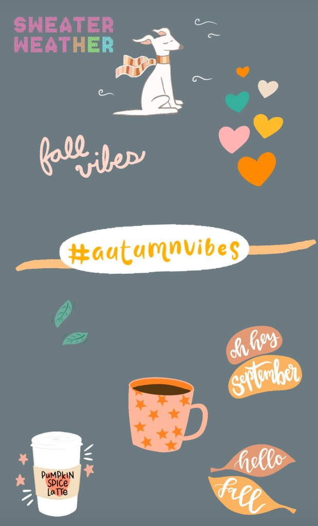 autumn vibes instagram stickers
