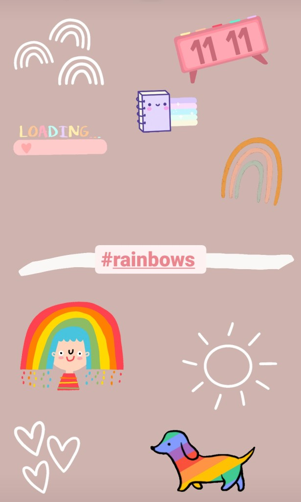 rainbows instagram stickers