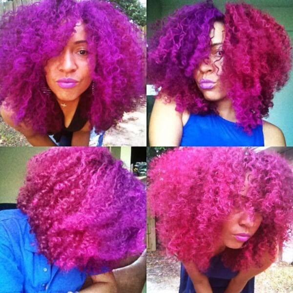 25 Colored Natural Hair Styles