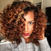 colored natural hair styles