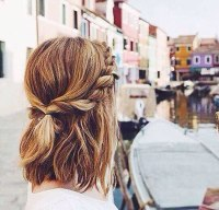 15 Easy Braids for Short Hair To Do Yourself - Short Hair ...