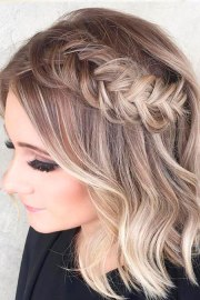 prom hairstyles short
