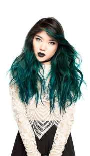perfect turquoise hair color