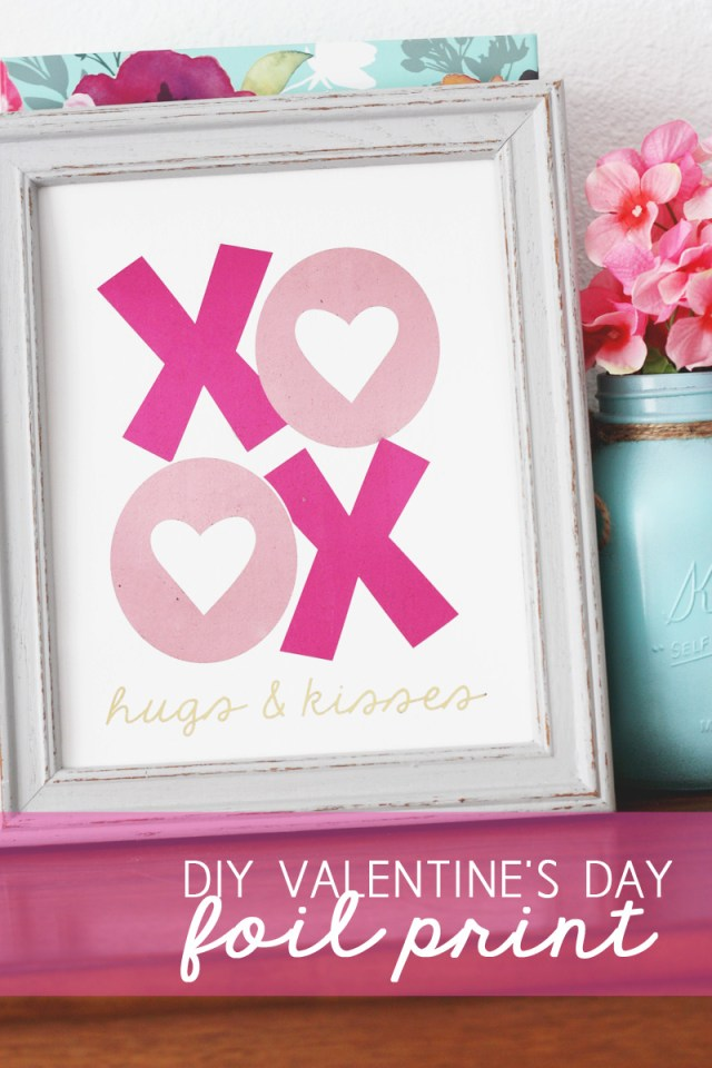 DIY Valentine's Day Foil Print