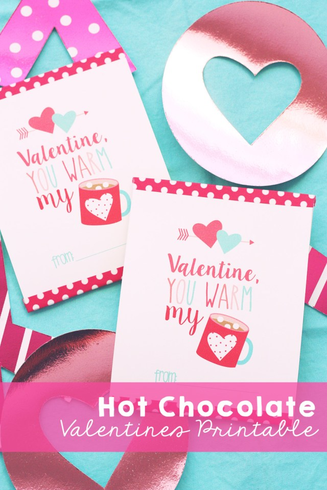 hot chocolate valentines day card