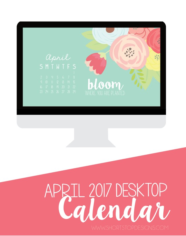 April Desktop Calendar