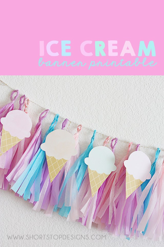 Printable Ice Cream Banner